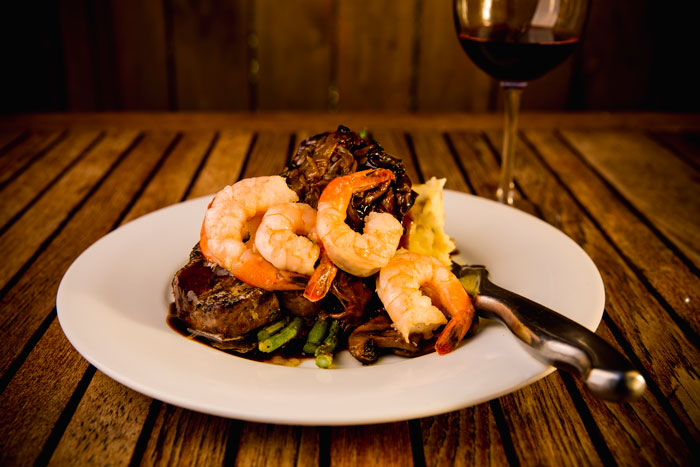 Steak and Prawn Dinner at SIMONHOLT | Corporate Reservations available at SIMONHOLT