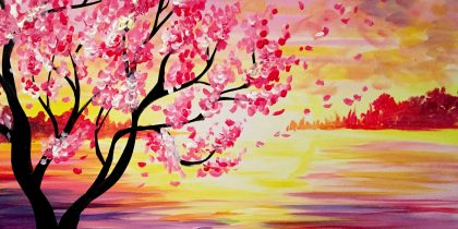 Sunset Cherry Blossoms at SimonHolt - Paint Nite Events