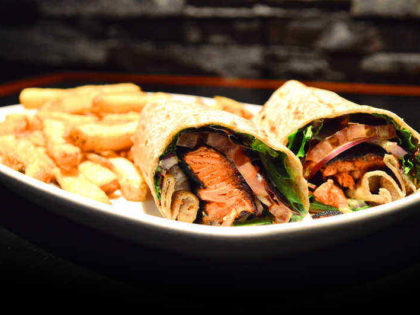 Blackened Salmon Wrap