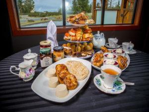 Traditional English high tea service is offered at SIMONHOLT Restaurant in Nanaimo