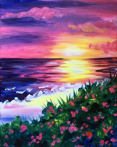 PaintNite at Simonholt: Blooming Sunset | SIMONHOLT Restaurant ... | title | sunset painting